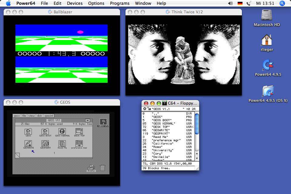 Power64 - Commodore C64 Emulator for the Apple Macinosh